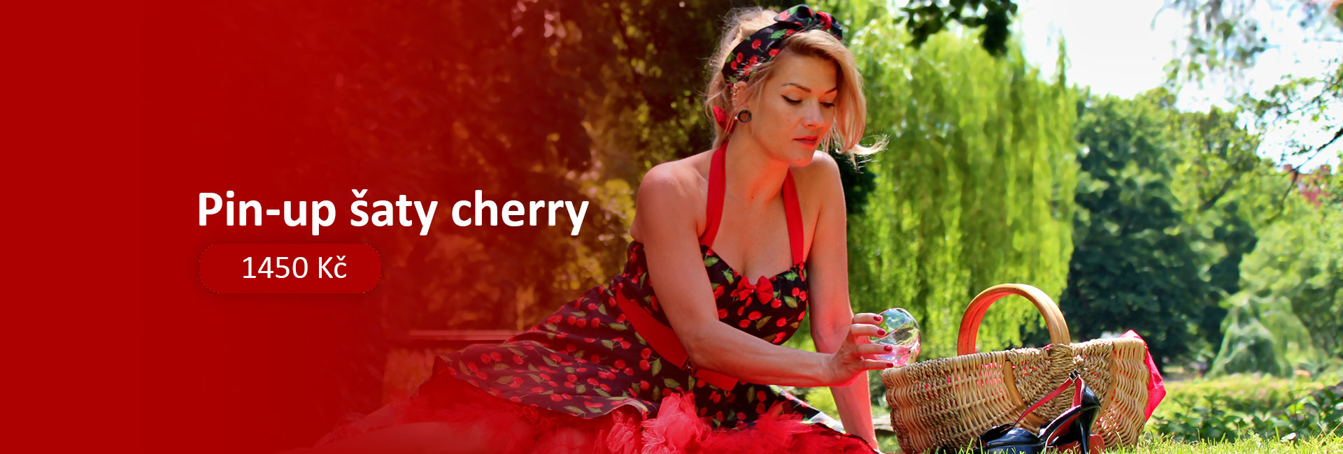 Pin-up šaty cherry
